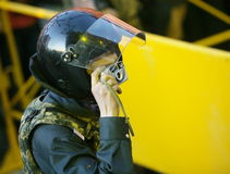 Poliziotto - fotografo immagini stock