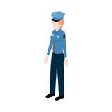 Poliziotto isometrico della donna illustrazione di stock