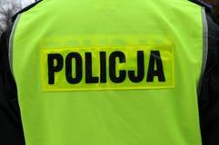 Poliziotto in Polonia Fotografia Stock Libera da Diritti