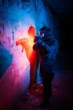 Poliziotto/soldato antiterroristici dell'unità Immagini Stock Libere da Diritti