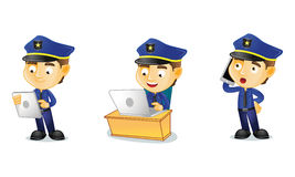 Polizist 3 stock abbildung