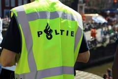 Polizist in Amsterdam Stockfotografie