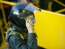 Polizist - Fotograf Stockbilder