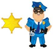 Polizist mit einem Stern Stockfotografie