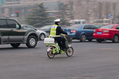 Polizist in Peking Stockbilder
