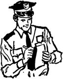 Polizist-Schreibens-Karte Lizenzfreie Stockfotografie