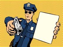 Polizist stoppt ein Verbrechen Stockfotografie