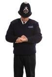 Polizist timecheck. Lizenzfreie Stockbilder