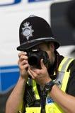 Polizist während Nagar Kirtan der Sikhprozession Lizenzfreie Stockfotos