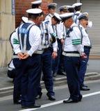 Polizisten im Dienst Stockbilder