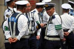 Polizisten im Dienst Stockbild