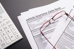 Polizza d'assicurazione del veicolo Immagini Stock Libere da Diritti