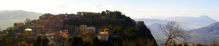 Polizzi generosa panorama. Polizzi generosa, little village in province of palermo. madonie mountains Royalty Free Stock Photo