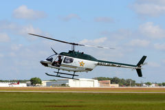 Polk County, FL Sheriff helicopter Royalty Free Stock Images