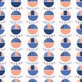 Polka abstraite Dot Vector Pattern Blue de Geo Illustration de Vecteur