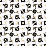 Polka astratta Dot Grid Shapes Black e giallo Royalty Illustrazione gratis