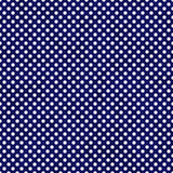 Polka bianca Dots Pattern Repeat Background e del blu navy piccola Immagini Stock Libere da Diritti