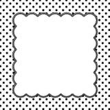 Polka in bianco e nero Dot Background con ricamo Fotografie Stock