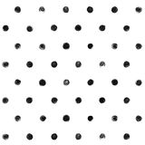 Polka in bianco e nero Dot Seamless Pattern Paint Fotografia Stock