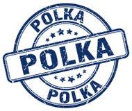 polka blauwe zegel stock illustratie