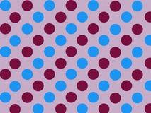 Polka Blue Violet Stock Image