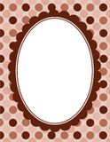 Polka border frame Royalty Free Stock Image