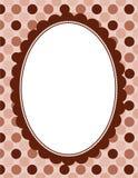 Polka border frame. Polka dots pattern with border / frame Royalty Free Stock Image