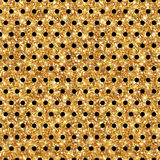 Polka brillante Dot Seamless Pattern d'or Photographie stock