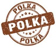 polka bruine zegel vector illustratie