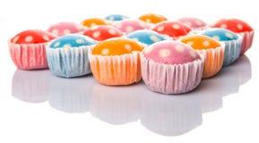 Polka cotta a vapore Dot Muffin del riso V Fotografie Stock Libere da Diritti