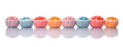Polka cotta a vapore Dot Muffin del riso VI Immagine Stock