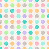 Polka d'annata astratta Dots Circles Pattern Background With Fabr illustrazione vettoriale