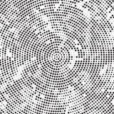 Polka de rotation Dots Background Pattern Texture de désordre de rétro radial noir et blanc tramé illustration libre de droits