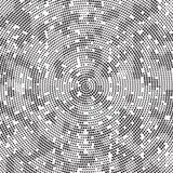 Polka de rotation Dots Background Pattern Texture de désordre de rétro radial noir et blanc tramé illustration de vecteur
