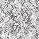 Polka di filatura Dots Background Pattern Texture di disordine della retro parte radiale in bianco e nero di semitono illustrazione vettoriale