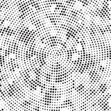 Polka di filatura Dots Background Pattern Texture di disordine della retro parte radiale in bianco e nero di semitono royalty illustrazione gratis
