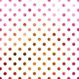 Polka di rame rosa Dot Pattern dell'oro Immagine Stock