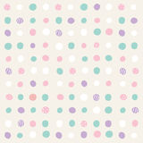 Polka Dot Abstract Seamless Pattern Fotografia Stock