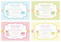 Polka Dot Baby Shower Invitations illustration stock