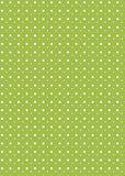Polka dot background. White polka dots on green background Royalty Free Stock Image
