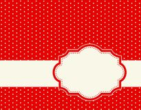 Polka dot background frame Royalty Free Stock Photography