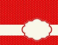 Polka dot background frame