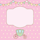 Polka dot background with frame for text or photo. Stock Photo