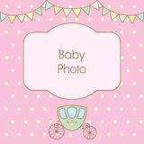 Polka dot background with frame for text or photo. Royalty Free Stock Photography