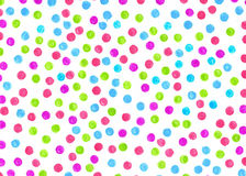 Polka dot background painted markers for different design. Handc Royalty Free Stock Photo