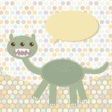 Polka dot background, pattern. Funny cute dinosaur Royalty Free Stock Photos