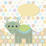 Polka dot background, pattern. Funny cute monster Royalty Free Stock Image