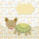 Polka dot background, pattern. Funny cute monster Stock Images