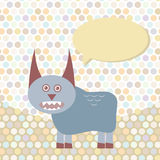Polka dot background, pattern. Funny cute monster Royalty Free Stock Photos