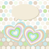 Polka dot background, pattern. Heart on dot Stock Image